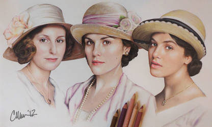 Downton Abbey Sisters Drawing by Live4ArtInLA