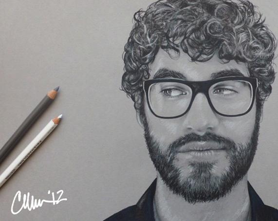 Side Eye Darren Criss Sketch by Live4ArtInLA
