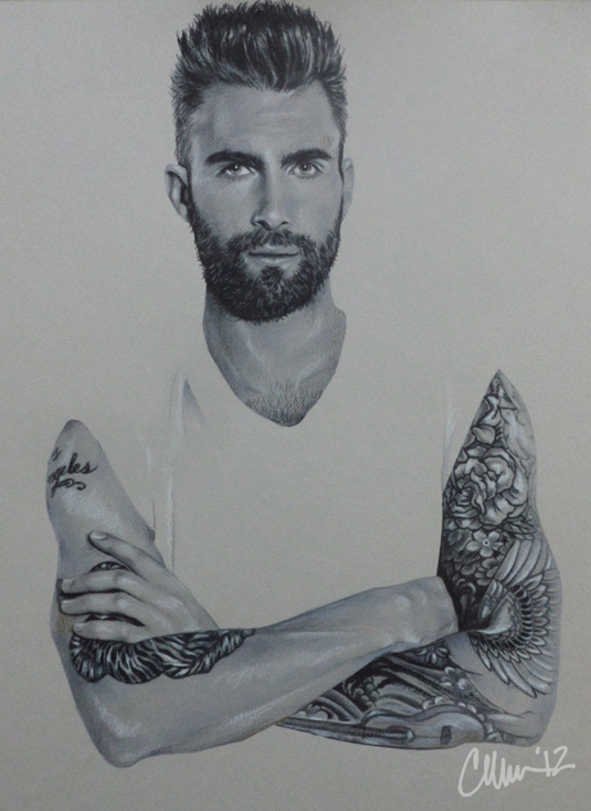 Adam Levine Drawing by Live4ArtInLA