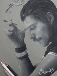 Freddie Mercury sketch by Live4ArtInLA