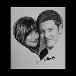 Lea and Cory Heart by Live4ArtInLA
