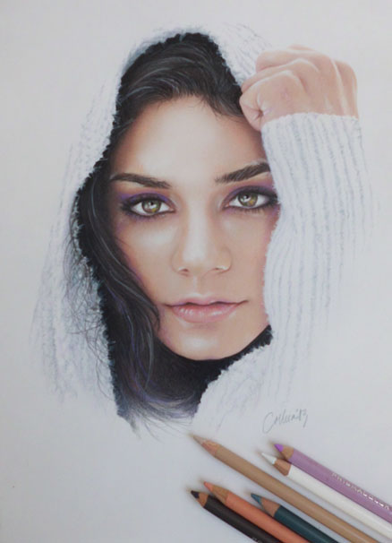 Vanessa Hudgens Drawing by Live4ArtInLA