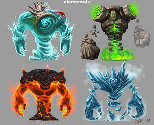 elementals by d1sk1ss