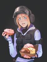 IQ with donuts by Korezky