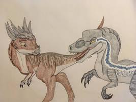 Jurassic June #2: Carnivore vs Herbivore by OthersideRaptor102