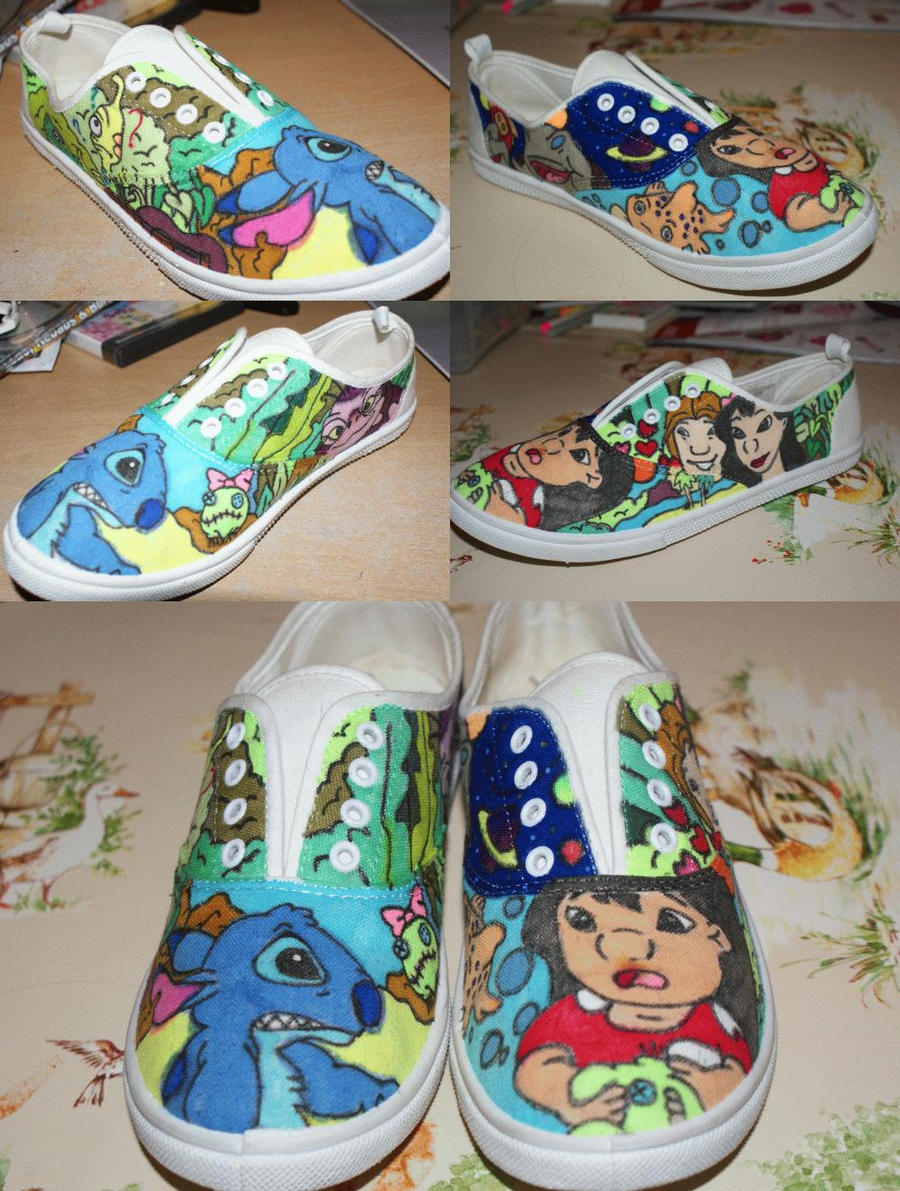 Lilo and stitch shoes by gratian grime on deviantart for Lilo and stitch arts and crafts