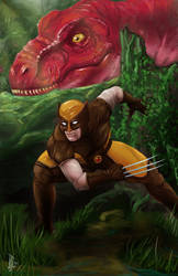 Wolverine in the Savage Land (Brown Suit)
