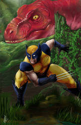 Wolverine in the Savage Land - Blue and Yellow