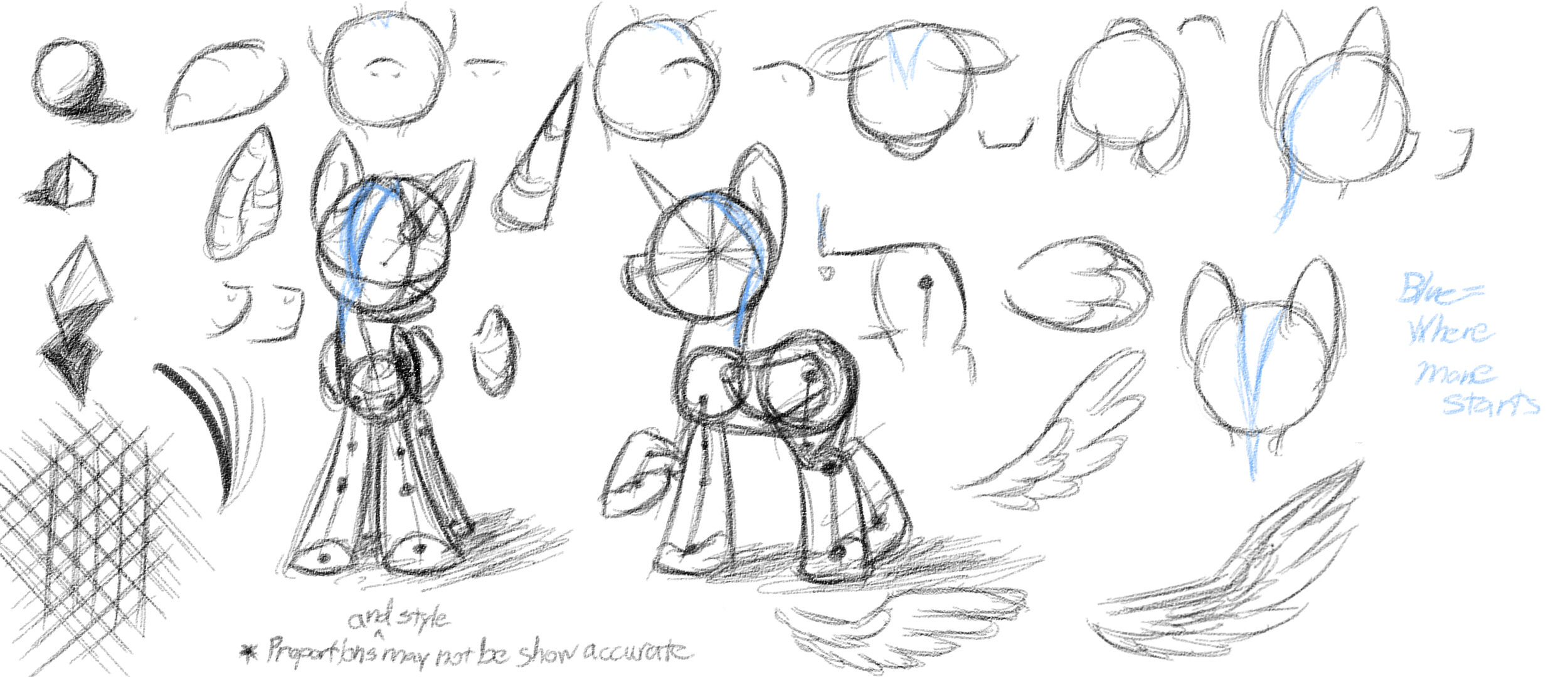 MLP - Basic Anatomy Study 1 - Basics by DShou