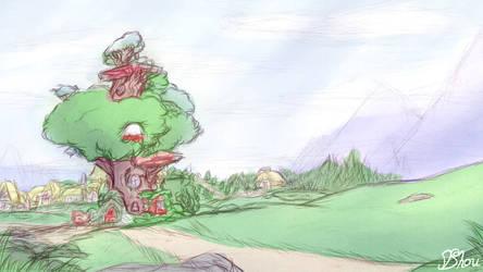 MLP - Golden Oaks Library Sketch by Nyaseiru