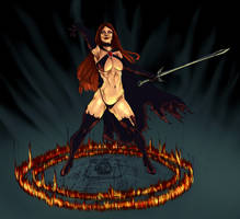 Goblin Queen glyph by Selkirk by carol-colors