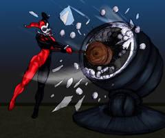 Harley and Batlamp by Selkirk by carol-colors