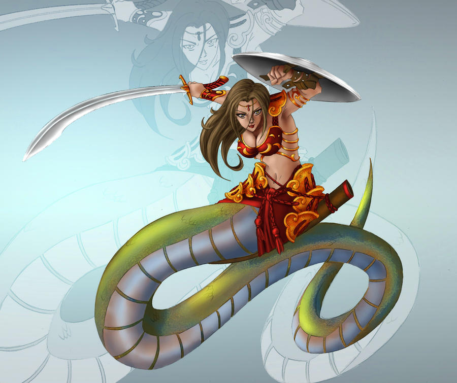 Lamia by Ronin-ink by carol-colors