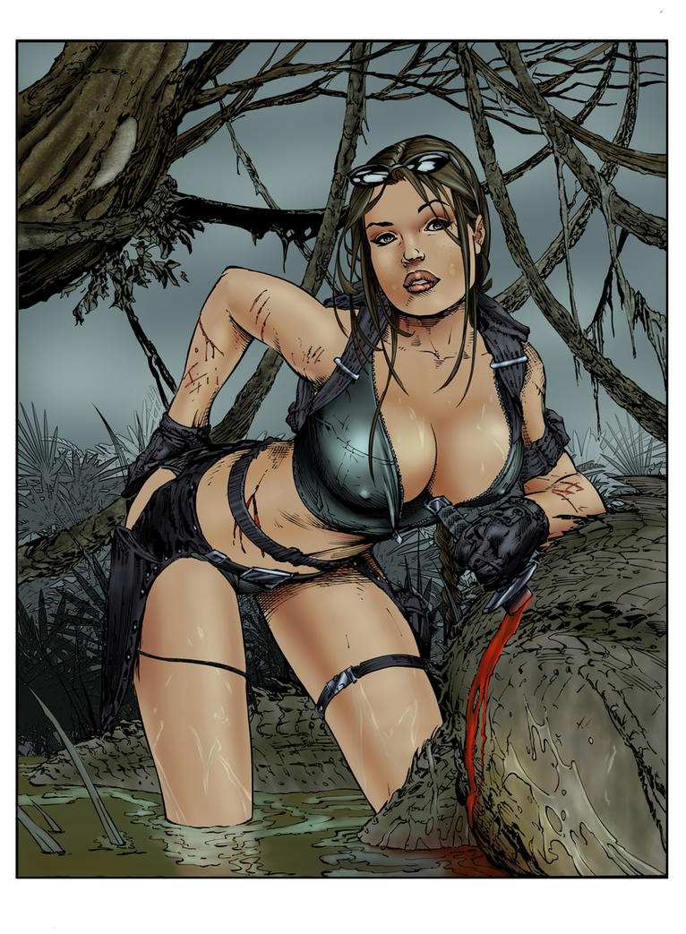 Tomb Raider by Ebas - inks by devgear _COLORS_ by carol-colors