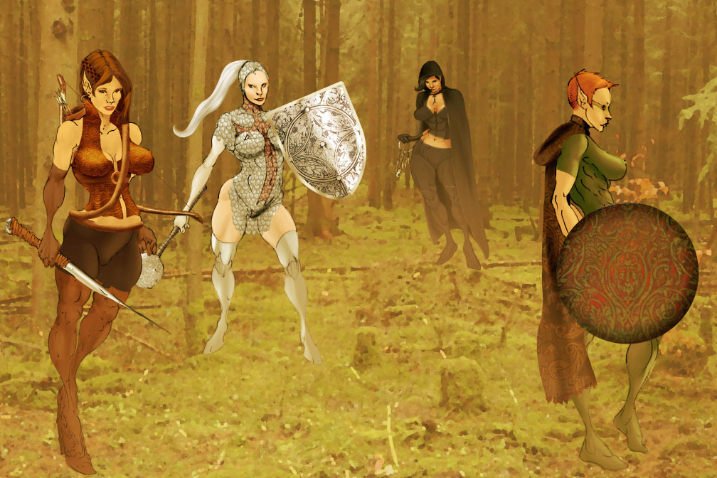 Hunting Party from Selkirk sketches (COLORS) by carol-colors