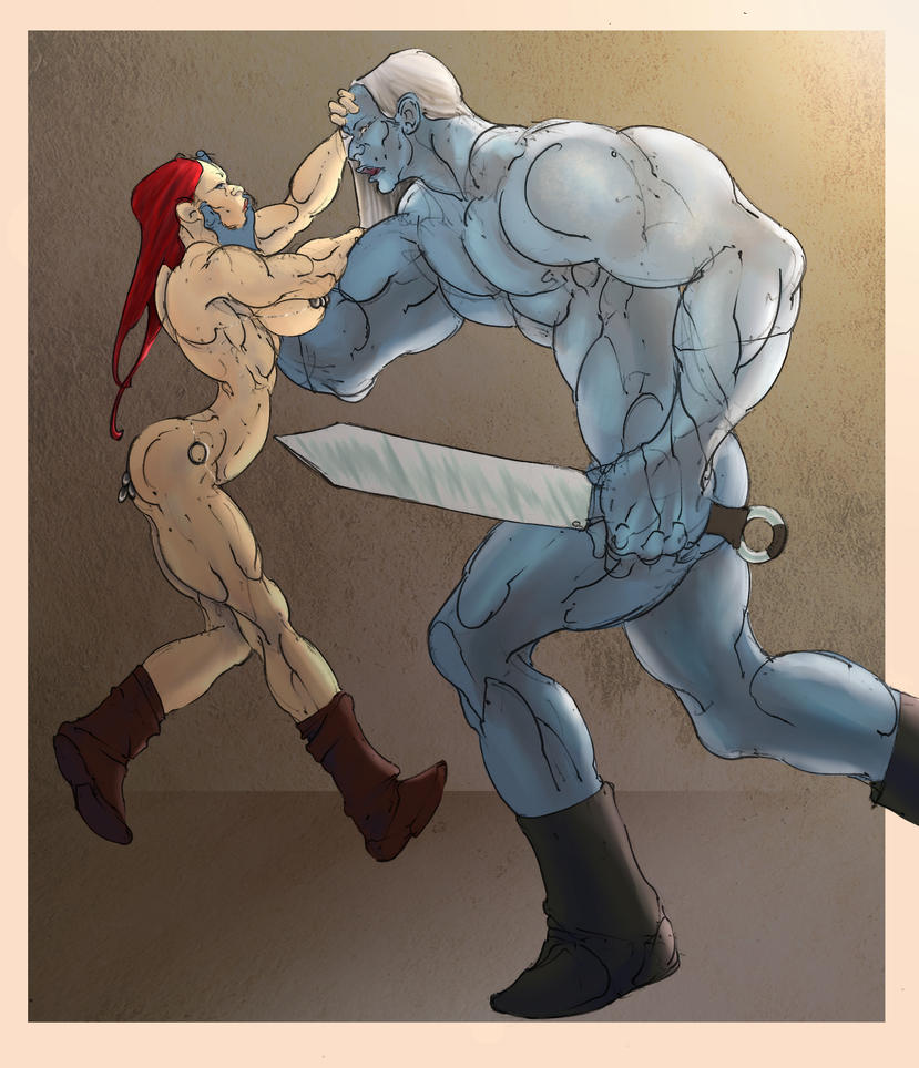 Red Sonja vs Frost Giant by Selkirk (COLORS) by carol-colors
