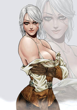 Ciri The Witcher 3 by Dannith  (COLORS)