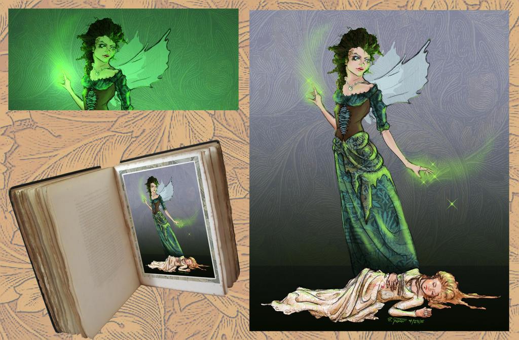 Sleeping Beauty Cursed by Bizliz (COLORS) by carol-colors