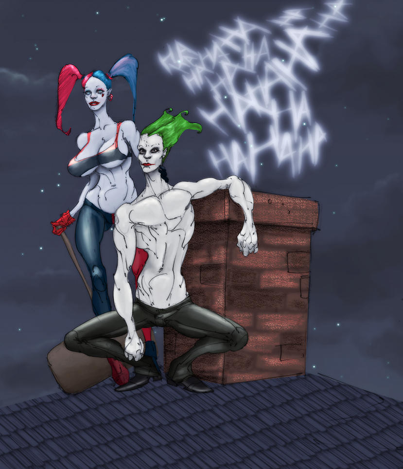 Harley and Joker  by Selkirk (COLORS) by carol-colors