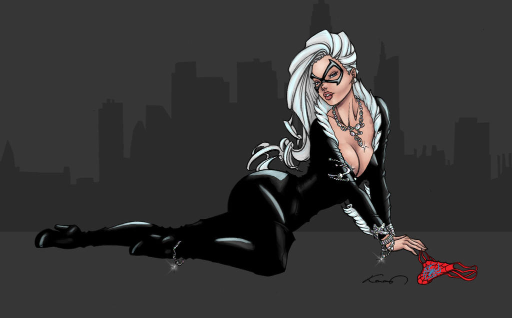 Black cat by ZamanK (COLORS) by carol-colors