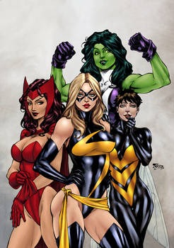 Avengers girls by Benes and Texas0418 (COLORS)