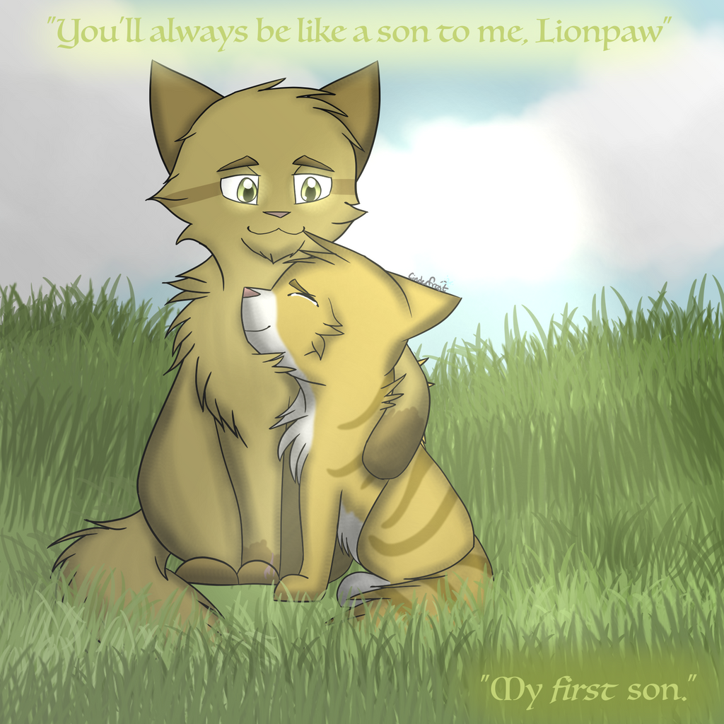 My First Son- Jaggedstar and Lionpaw by xCinderfrostx