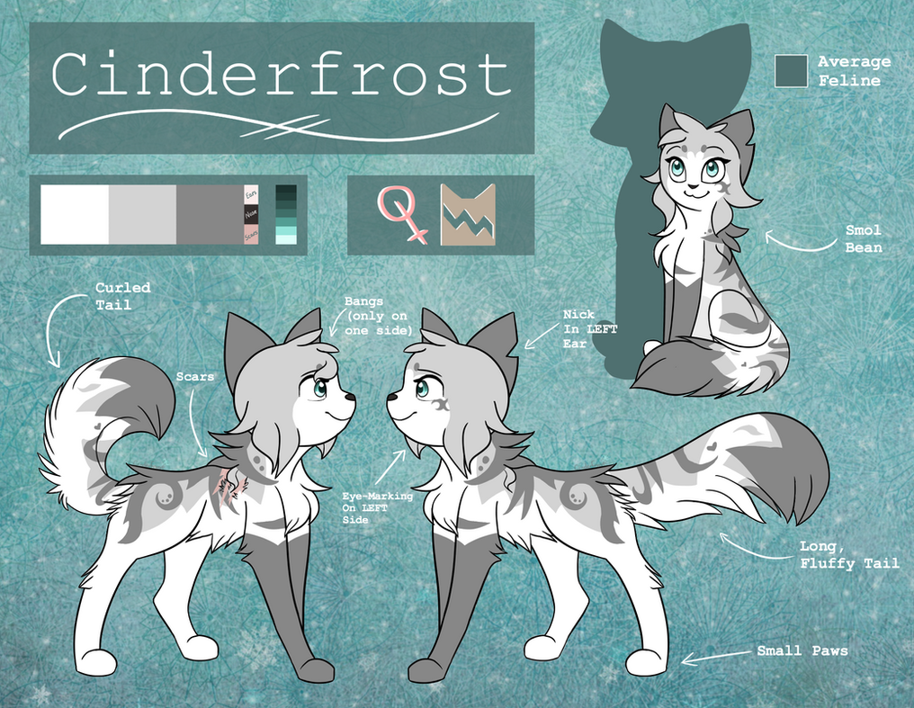 (2017) Cinderfrost - Reference Sheet by xCinderfrostx