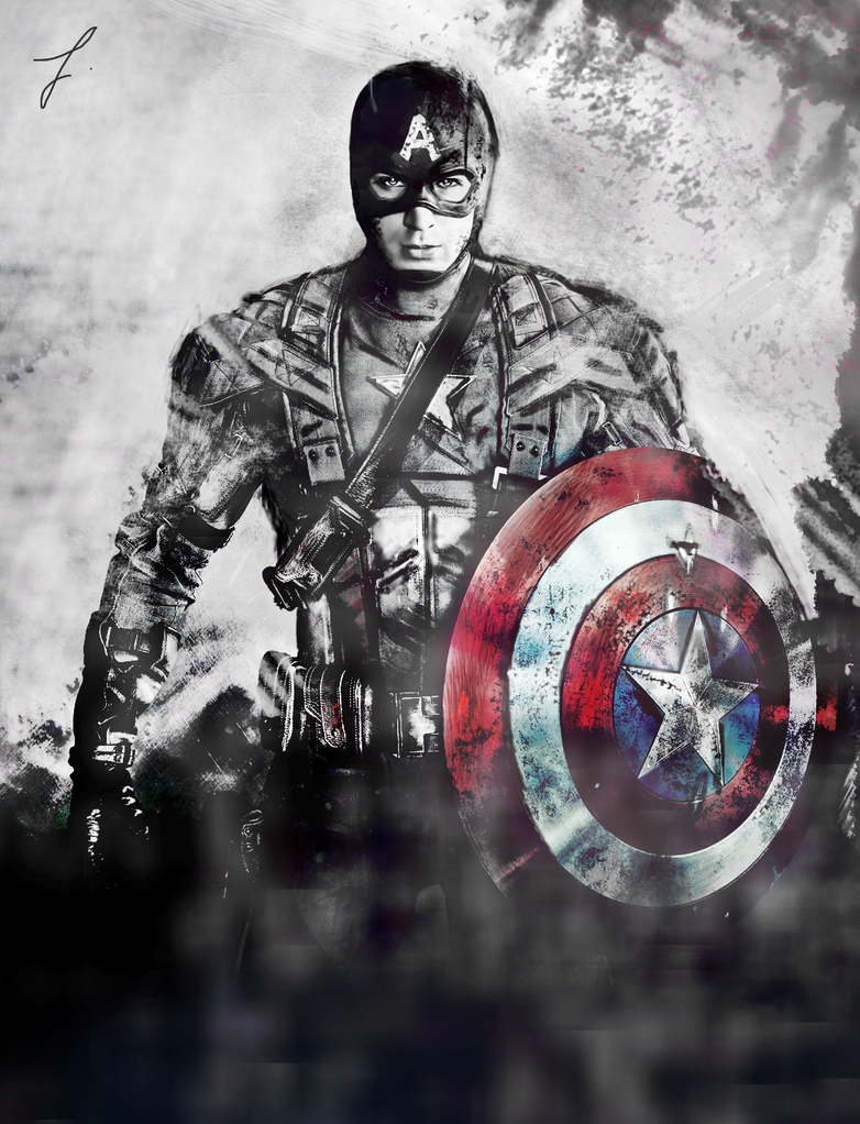 Captain america painting by okikku on deviantart for America s finest paint