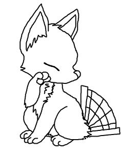 cutie foxfan YCH by Shantayz-Shan