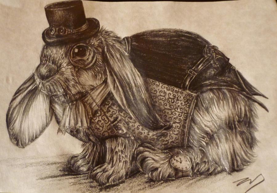 Steampunk Rabbit by ZoeCassandra