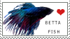 Betta Fish Stamp by Hymnsie