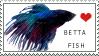 Betta Fish Stamp by Hymnsie