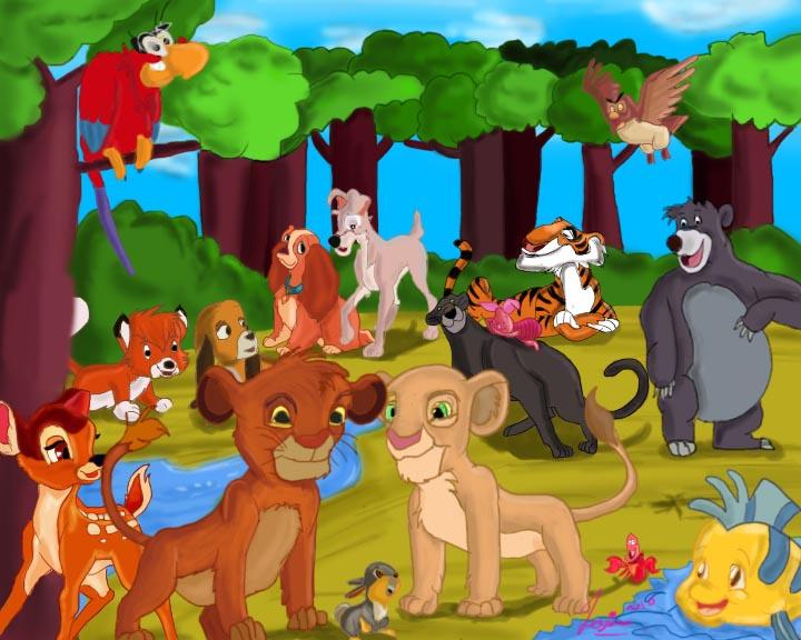 Disney animals by hishioni on DeviantArt