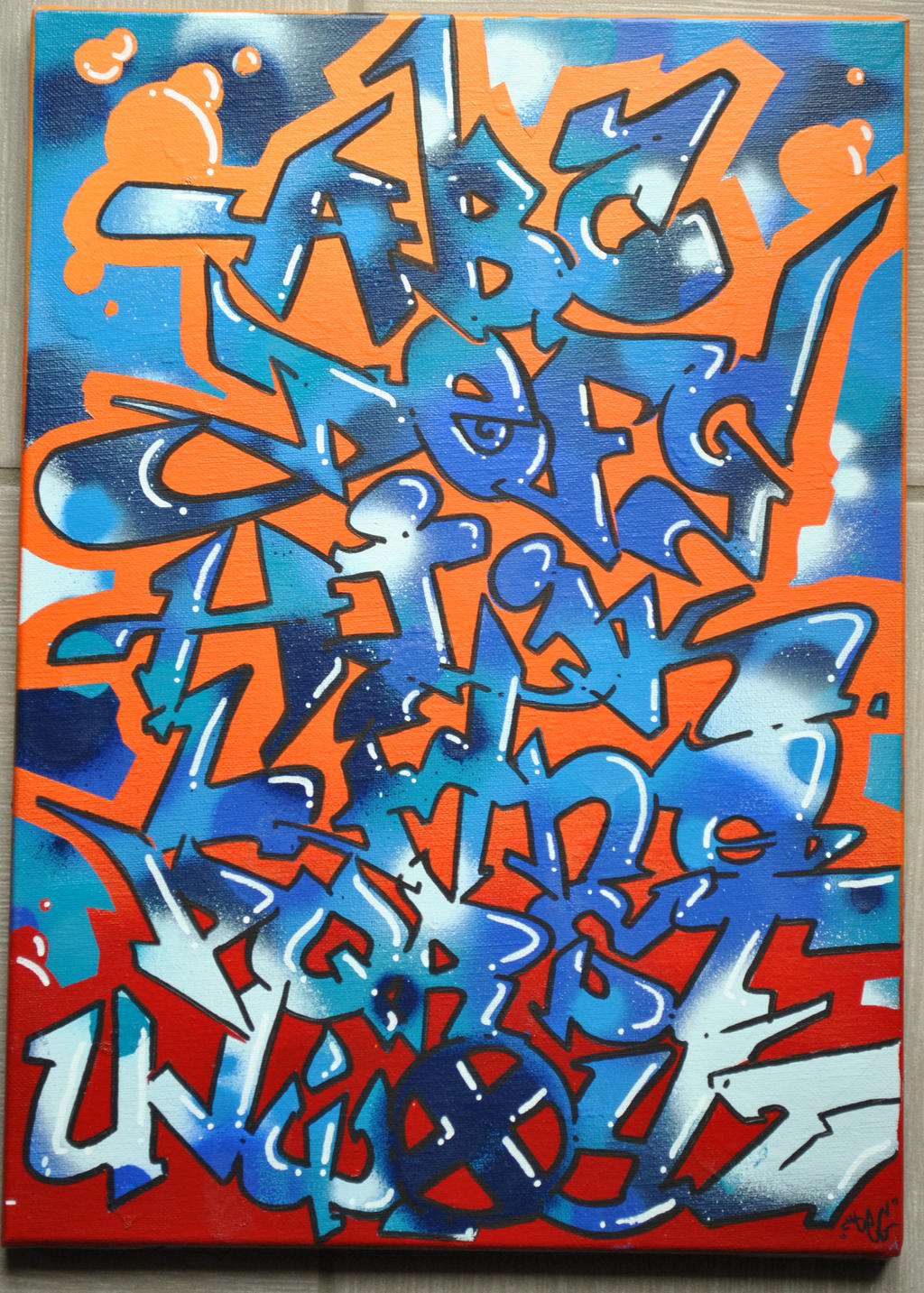 Graffiti art letters d