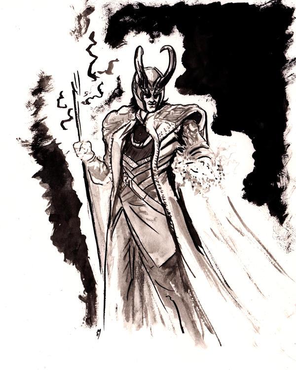 Loki Master of Humans... by BlueMillenium