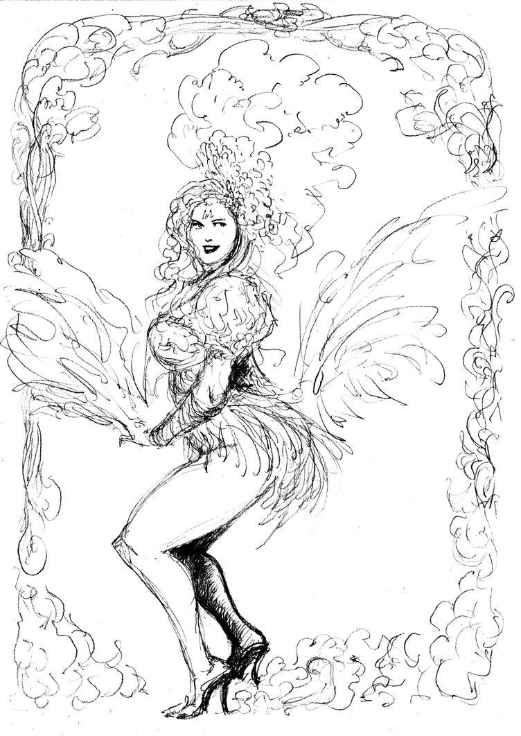 Burlesque Peacock... by BlueMillenium