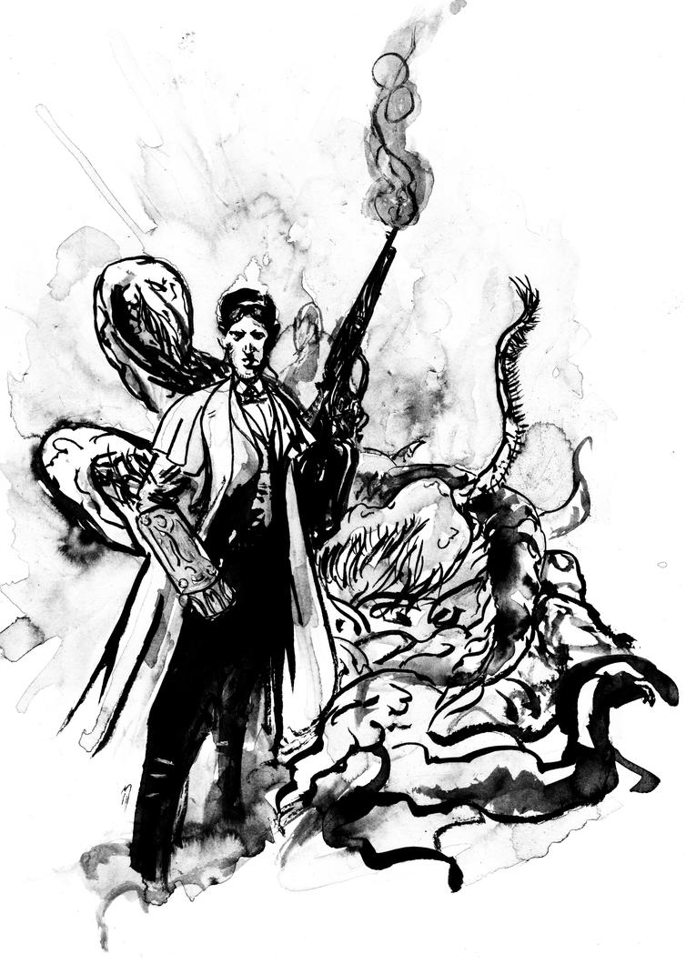 Tentacles Hunter Lovecraft since 1890 by BlueMillenium