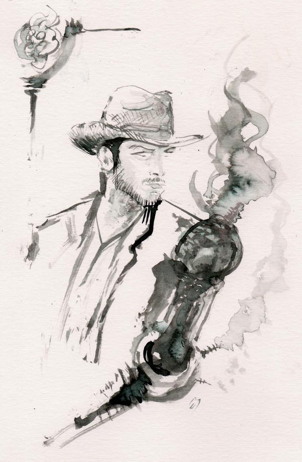 Lonesome Cowboy... by BlueMillenium