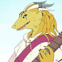 Dragonbard [Commission] by Dotdotdotart