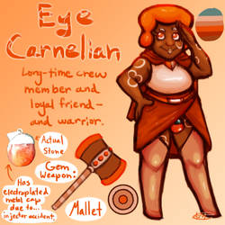 Off-Facet Olympics: Eye Carnelian (Staff) by EnterTheDwelling