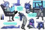 Alien Slime Person Character Commission - Sudrien