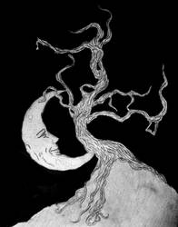 The Moon and The Dead Willow by HeiYuBai