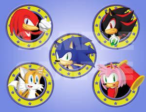 Sonic Badges set