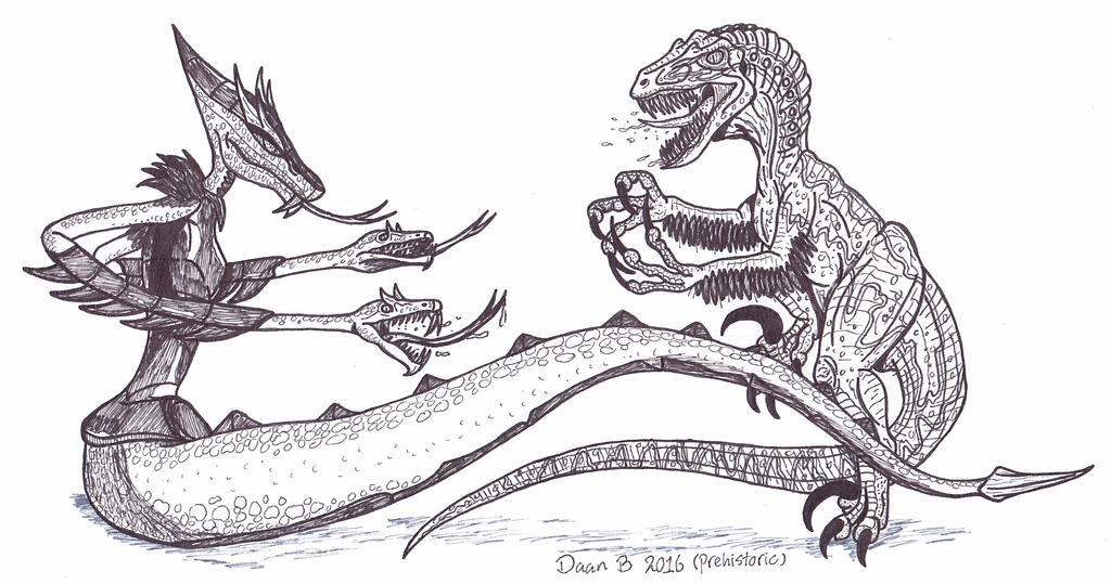 Serpent Karai vs Blue by XenoTeeth3