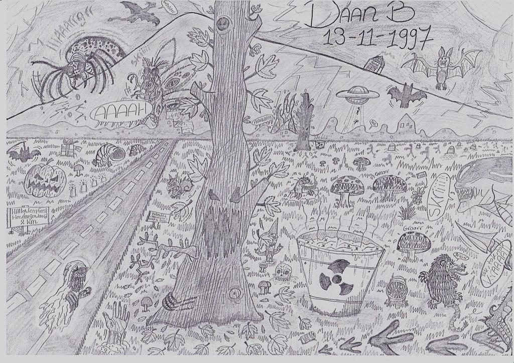 Autumn Season drawing (my birthday,Halloween) by XenoTeeth3