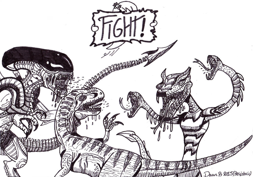 Battle of the Deadliest!! by XenoTeeth3