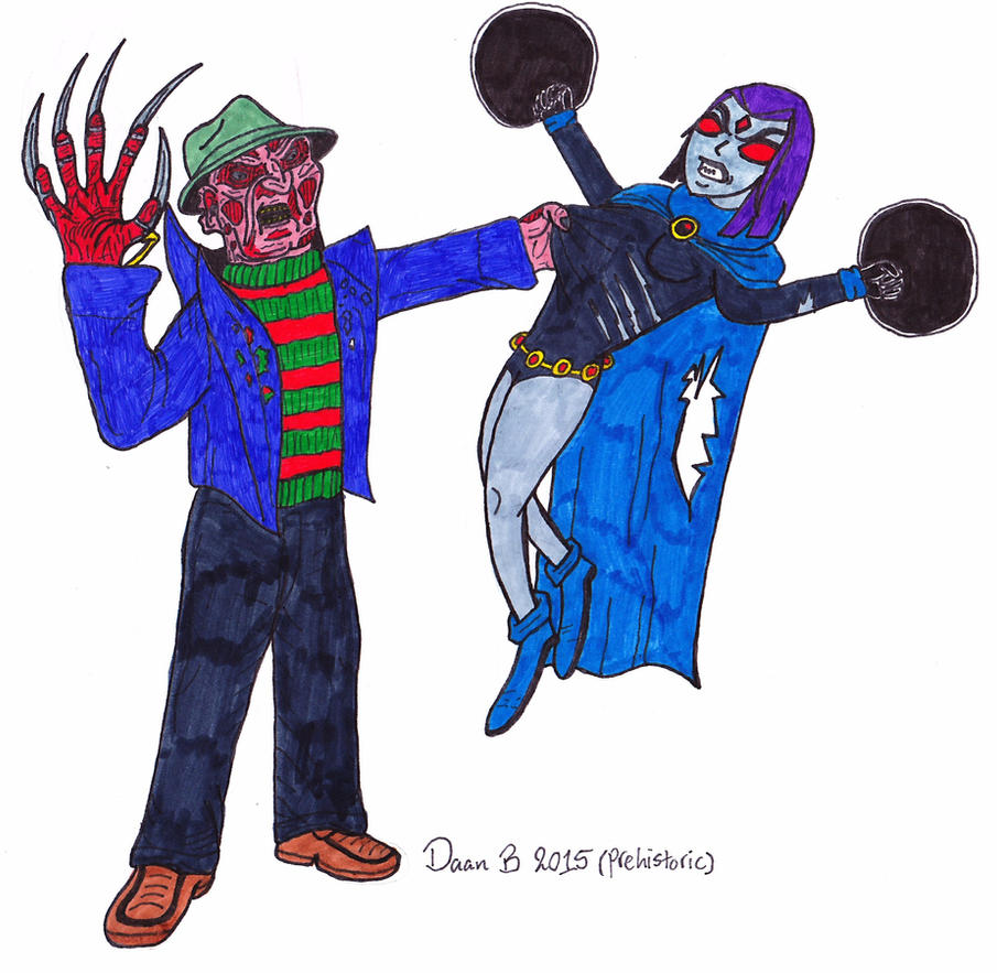 Freddy Krueger vs Raven by XenoTeeth3