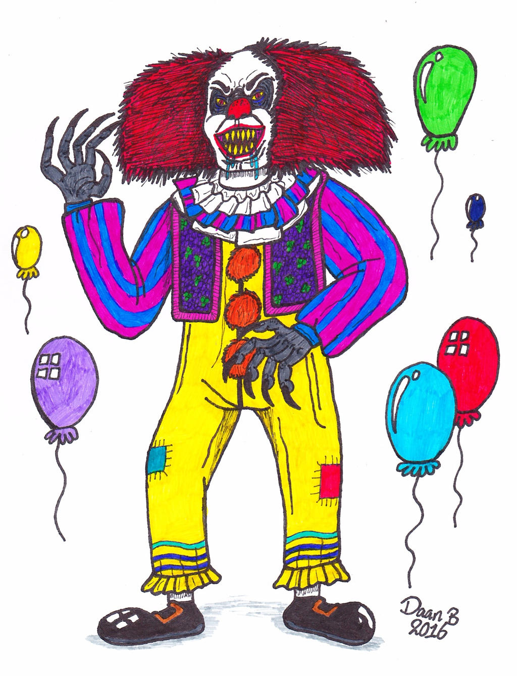Pennywise the Clown (It) by XenoTeeth3