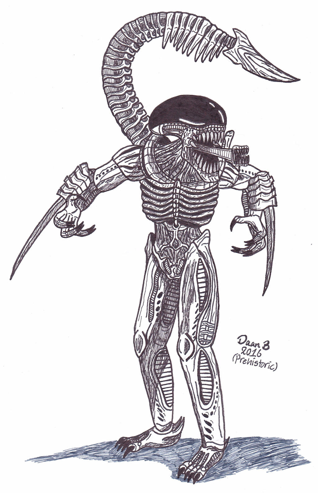 Tarkatan Xenomorph (Mortal Kombat) by XenoTeeth3