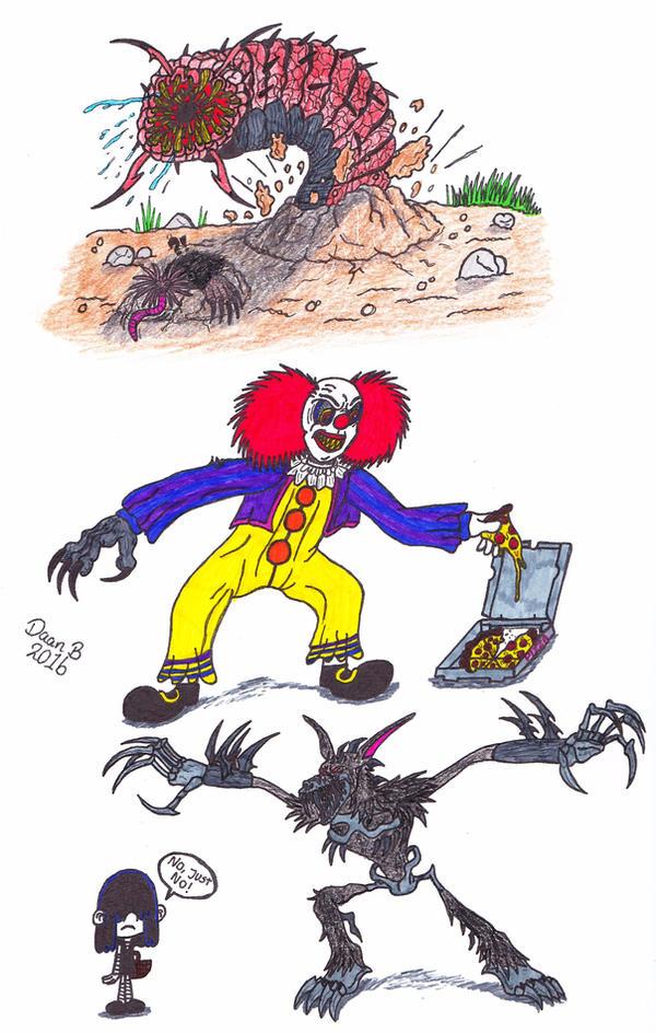 3 Random Drawings by XenoTeeth3